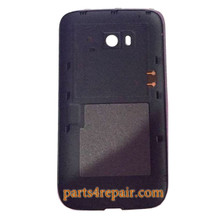 Back Cover without Wireless Charging Coil for Nokia Lumia 822 -Black