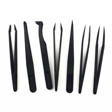 7pcs/set Anti-Static ESD Plastic Precision Tweezers