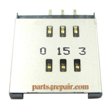 BlackBerry Torch 9800/9810 SIM Tray Holder from wwww.parts4repair.com