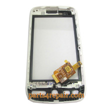 HTC Desire Touch Screen with Front Cover -White