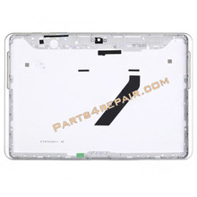 Samsung Galaxy Tab 2 10.1 P5100 Back Cover with Side Keys -White from www.parts4repair.com