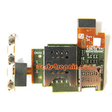 SIM Holder Flex Cable for Sony Xperia J ST26I -Used