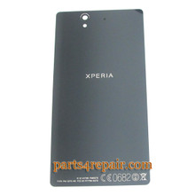 Back Cover for Sony Xperia Z L36H -Black from www.parts4repair.com