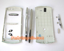 Full Housing Cover for Sony Ericsson Xperia Neo V -Silver