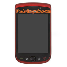 Complete Screen Assembly with Bezel for BlackBerry Torch 9800(002 Version) -Red