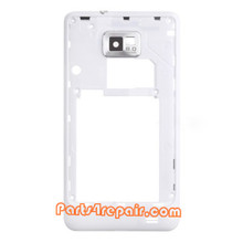 Middle Cover for Samsung I9100 Galaxy S II -White from www.parts4repair.com