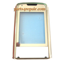 Front Glass with Bezel for Nokia 8800 Gold Arte