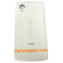 Back Cover without NFC for LG Nexus 5 D821 -White