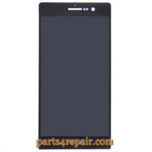 Complete Screen Assembly for Huawei Ascend P7 -Black