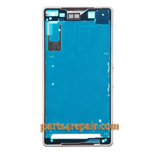 LCD Plate for Sony Xperia Z2 -White from www.parts4repair.com