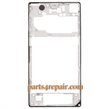 We can offer Rear Middle Cover for Sony Xperia Z1 L39H -White