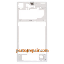 Rear Middle Cover for Sony Xperia Z1 L39H -White from www.parts4repair.com