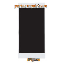 Complete Screen Assembly for Sony Xperia C3 S55 -White from www.parts4repair.com