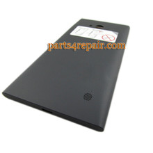 Back Cover with Wireless Charging Coil for Nokia Lumia 730 -Black from www.parts4repair.com
