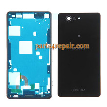 Full Housing Cover for Sony Xperia Z3 Compact mini -Black from www.parts4repair.com