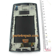 Complete Screen Assembly with Bezel for LG G4 -Silver