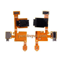 Earphone Jack Flex Cable for Nokia Lumia 730 from www.parts4repair.com