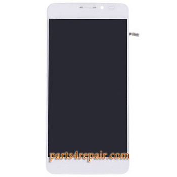 Complete Screen Assembly with Bezel for Alcatel Idol X OT-6040D -White