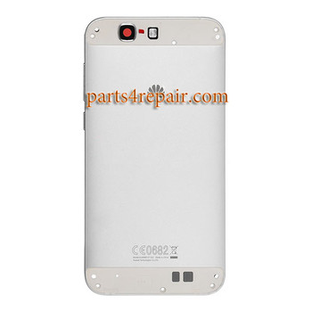 Back Housing Cover without Top and Bottom Cover for Huawei Ascend G7 -White