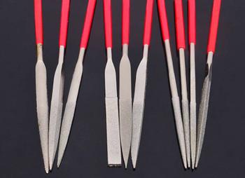 10pcs/set Diamond Needle Multiple Specification File Tools