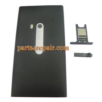 Nokia N9 Full Housing Cover Case -Black