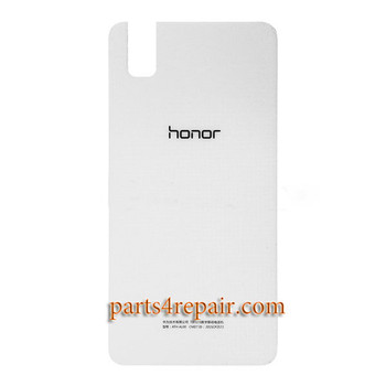 Back Cover with Adhesive for Huawei Honor 7i -White