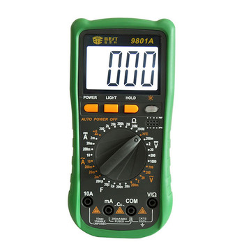 BST-9801A 3 1/2 LCD Display Digital Multimeter Electrical Meter Voltmeter Ohmmeter Ampmeter DMM