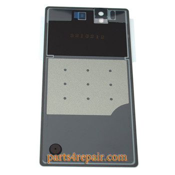 Back Cover OEM with Tempered Glass for Sony Xperia Z L36H -White (Japan Version)