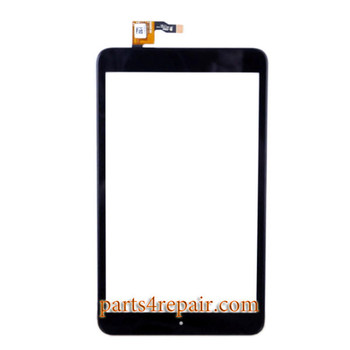 Touch Screen Digitizer with Bezel for Alcatel POP 8 P320X -Black