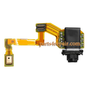 Earphone Jack Flex Cable for Sony Xperia Z5 from www.parts4repair.com