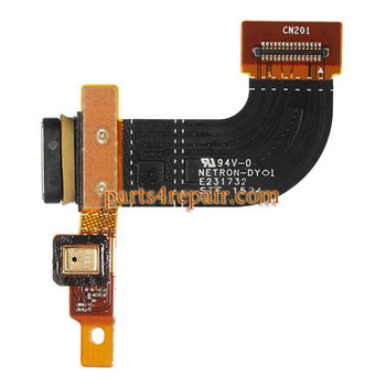 Dock Charging Flex Cable for Sony Xperia M5 from www.parts4repair.com