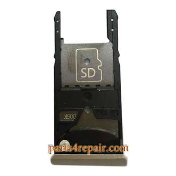 "SIM Tray for Motorola Moto X Style 5.7"" XT1570 XT1572 XT1575 -Gold"