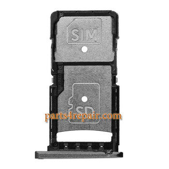 SIM Tray for Motorola Droid Turbo 2 XT1580 XT1585 -Black