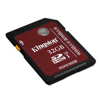 Kingston 32GB SDHC 90MB/S Read 80MB/S Write UHS-I Flash Card
