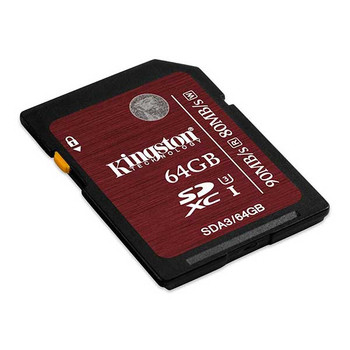 Kingston 64GB SDXC 90MB/S Read 80MB/S Write UHS-I Flash Card