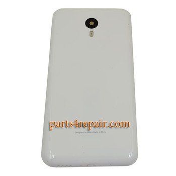 Back Housing Cover with Side Keys for Meizu M2 Note -White