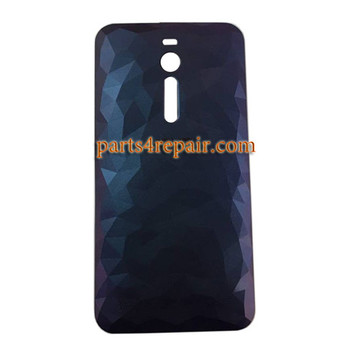 Back Cover with Power Button for Asus Zenfone 2 Deluxe ZE551ML -Carbon Black
