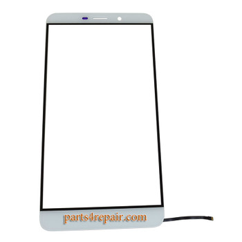 Front Glass with Keypad Flex Cable for Letv Le Max X900 -White