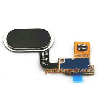 Home Button Flex Cable for Meizu M1 Metal (Meizu Blue Charm Metal) - Black
