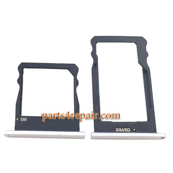 A Pair of SIM Trays for Huawei Honor 7i -White