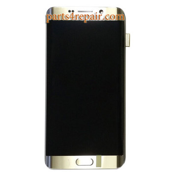 Complete Screen Assembly with Bezel for Samsung Galaxy S6 Edge+ -Gold