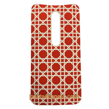 Back Cover with Adhesive for Motorola Moto X Style -Red