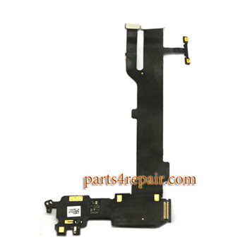 Mic Speaker Flex Cable for Oppo R7s (Black Flex Cable)