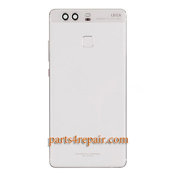 Back Housing Cover with Side Keys for Huawei P9 -Ceramic White