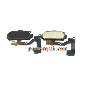 Home Button Flex Cable for Samsung Galaxy A8 -Gold