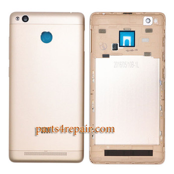 Back Housing with Side Keys for Xiaomi Redmi 3S -Gold