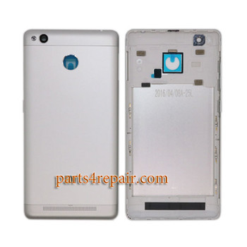 Back Housing with Side Keys for Xiaomi Redmi 3S -Silver