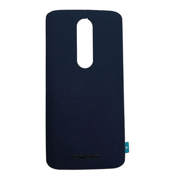 "Back Cover with ""DROID"" logo for Motorola Droid Turbo 2 -Blue (Nylon)"
