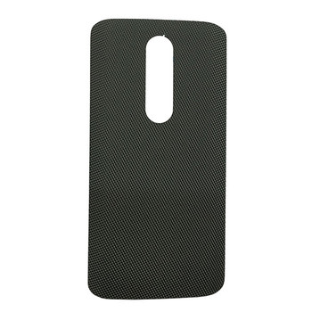"Back Cover without ""DROID"" logo for Motorola Droid Turbo 2 -Gray (Nylon)"