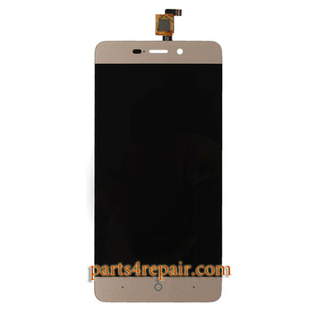 Complete Screen Assembly for ZTE Blade X3 / A452 -Gold